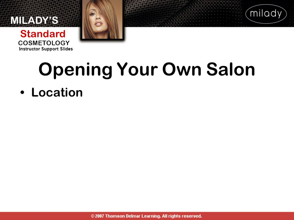 Opening Your Own Salon Location