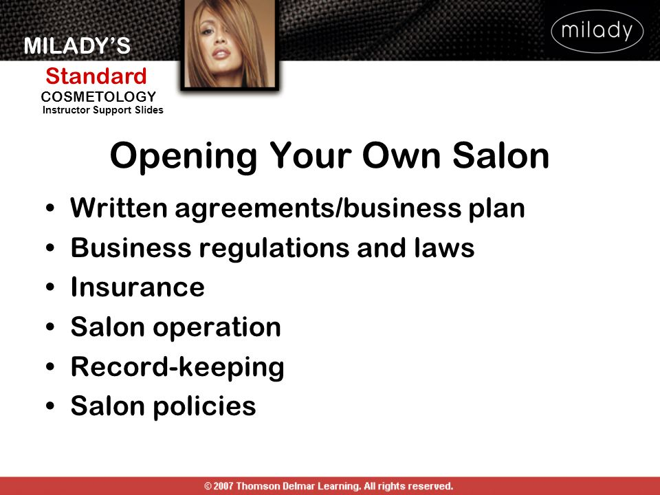 Opening Your Own Salon Written agreements/business plan