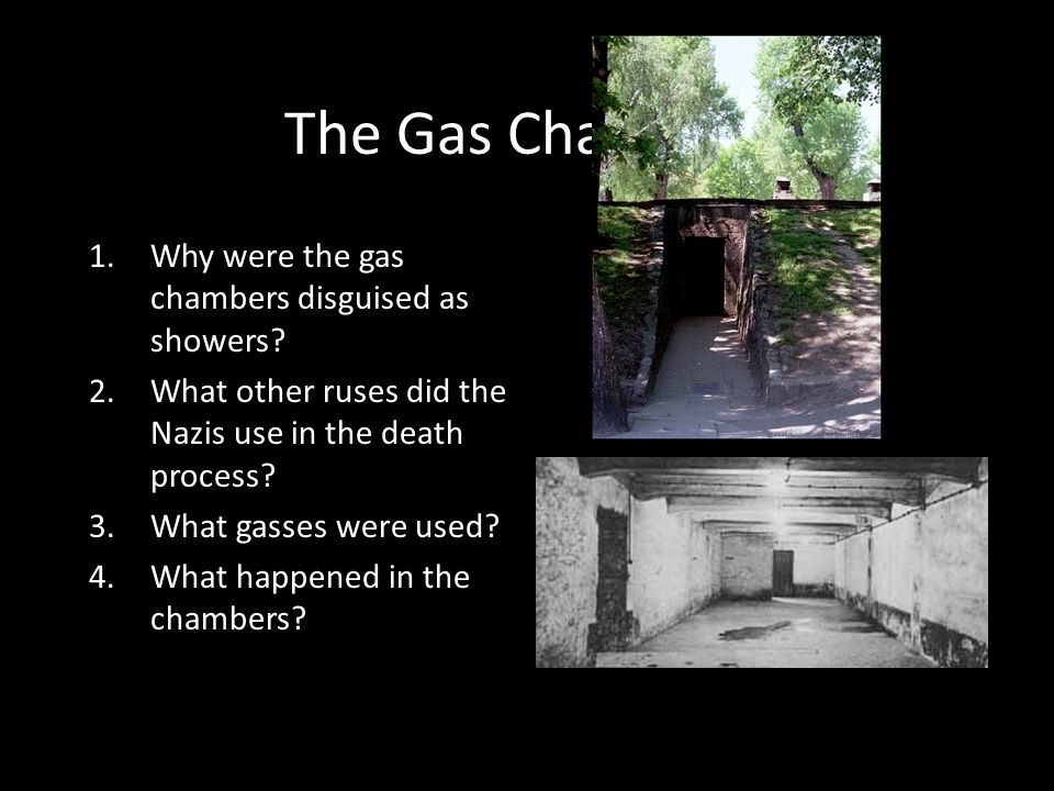 The Gas Chambers Why were the gas chambers disguised as showers