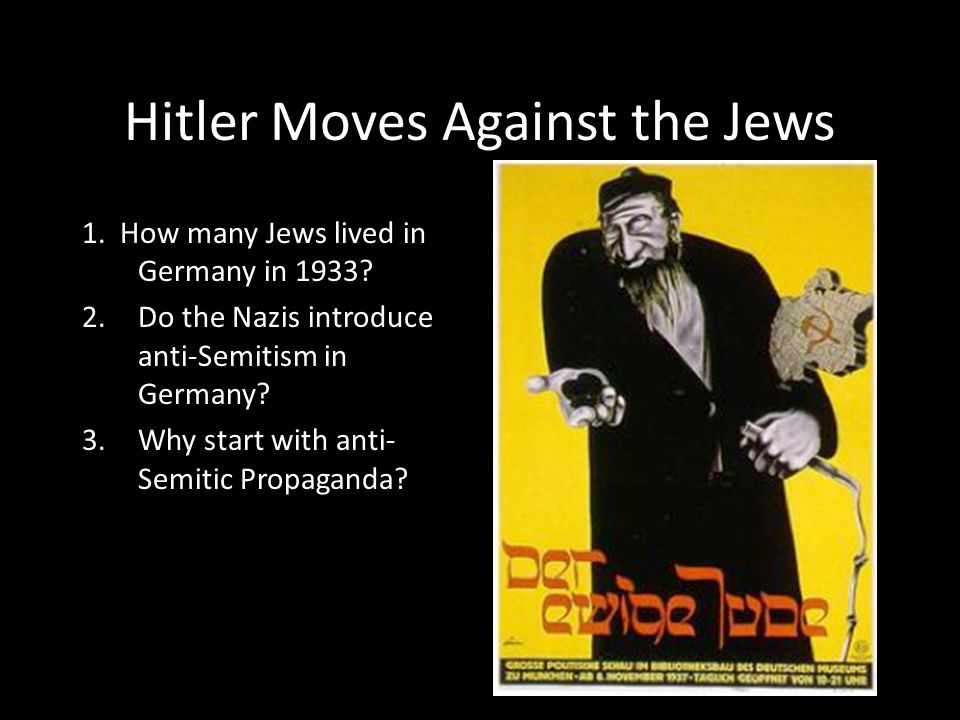 Hitler Moves Against the Jews