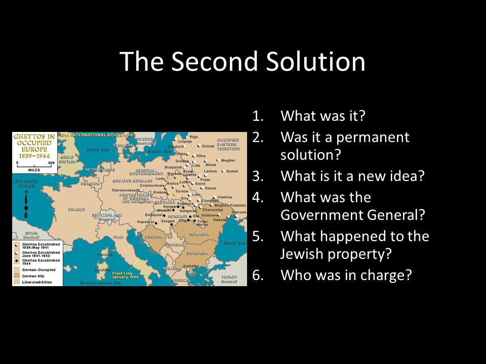 The Second Solution What was it Was it a permanent solution