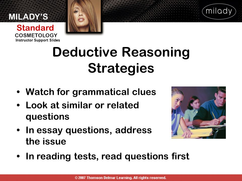 deductive reasoning essays Inductive argument examples (this method of inductive reasoning proceeds from a premise about a sample a third of college essays in trentworth academy.