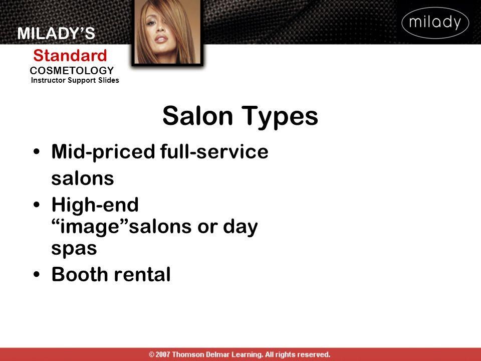 Salon Types Mid-priced full-service salons