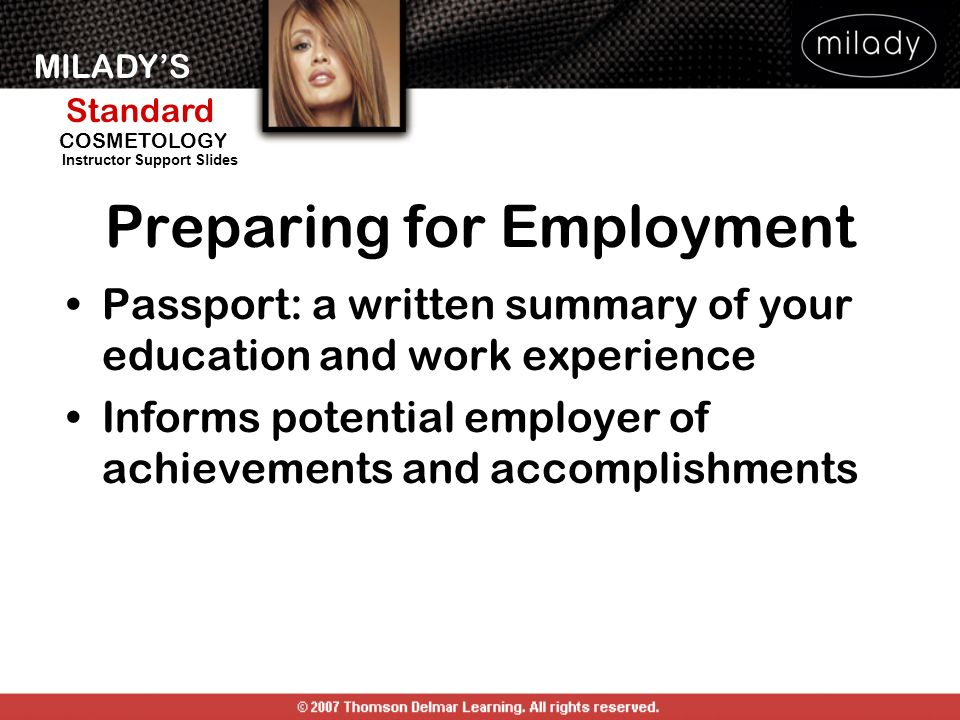 Preparing for Employment