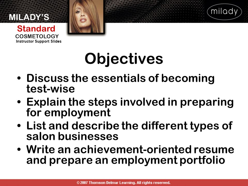 Objectives Discuss the essentials of becoming test-wise