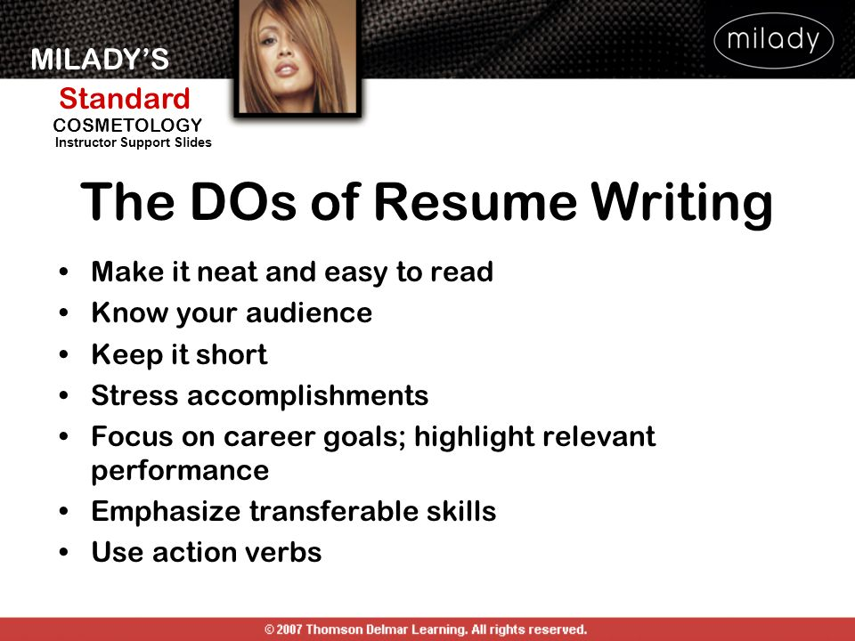The DOs of Resume Writing