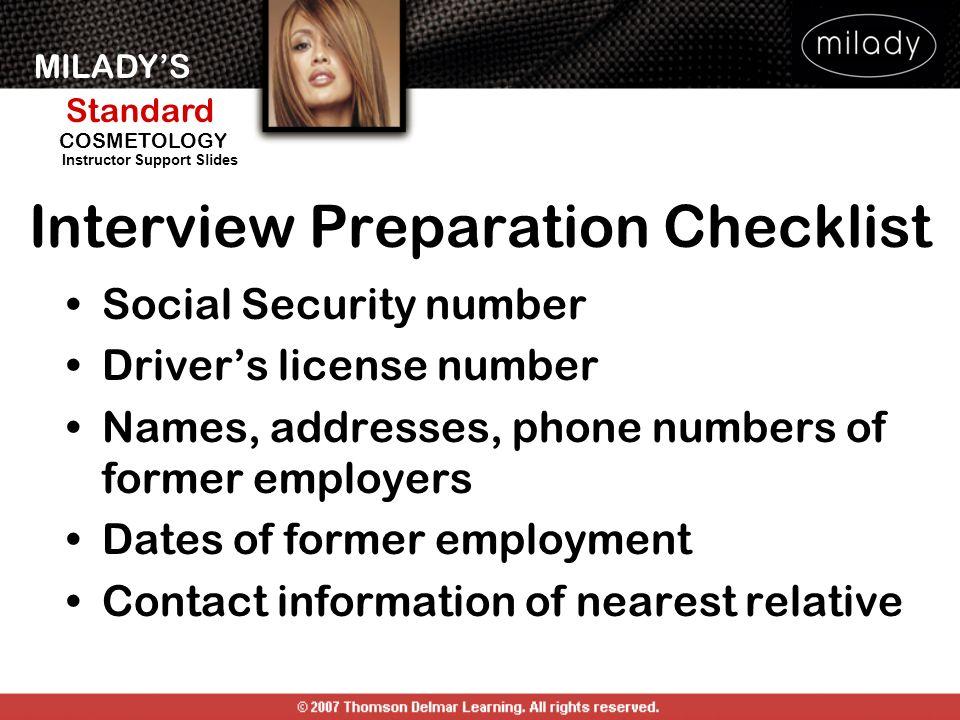 Interview Preparation Checklist