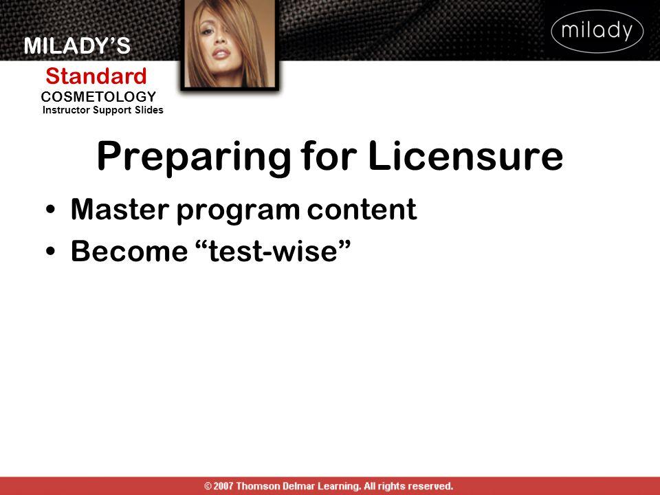 Preparing for Licensure