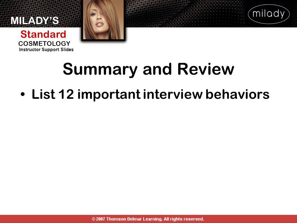 Summary and Review List 12 important interview behaviors