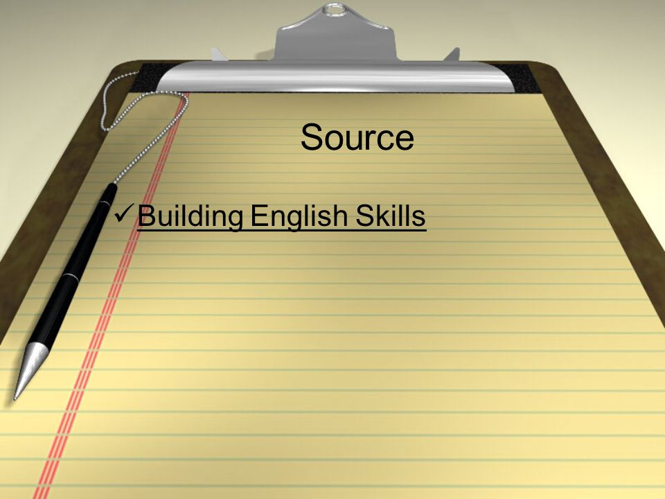 Source Building English Skills