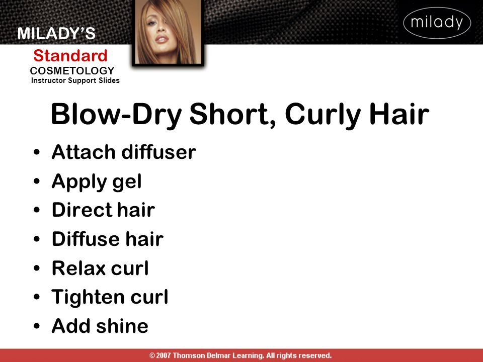 Blow-Dry Short, Curly Hair