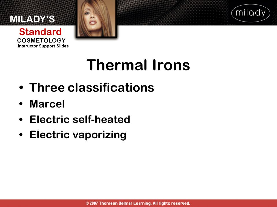Thermal Irons Three classifications Marcel Electric self-heated