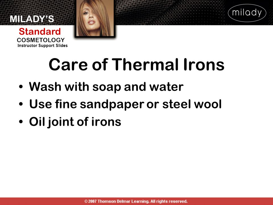 Care of Thermal Irons Wash with soap and water