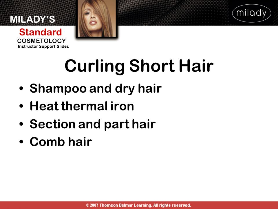 Curling Short Hair Shampoo and dry hair Heat thermal iron