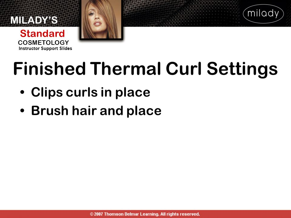 Finished Thermal Curl Settings