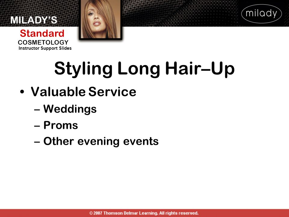 Styling Long Hair–Up Valuable Service Weddings Proms