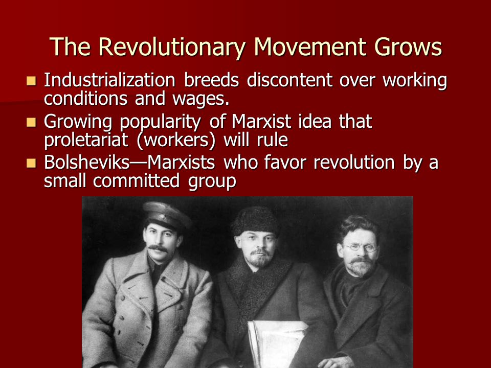 The Revolutionary Movement Grows