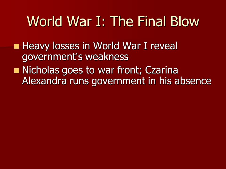 World War I: The Final Blow