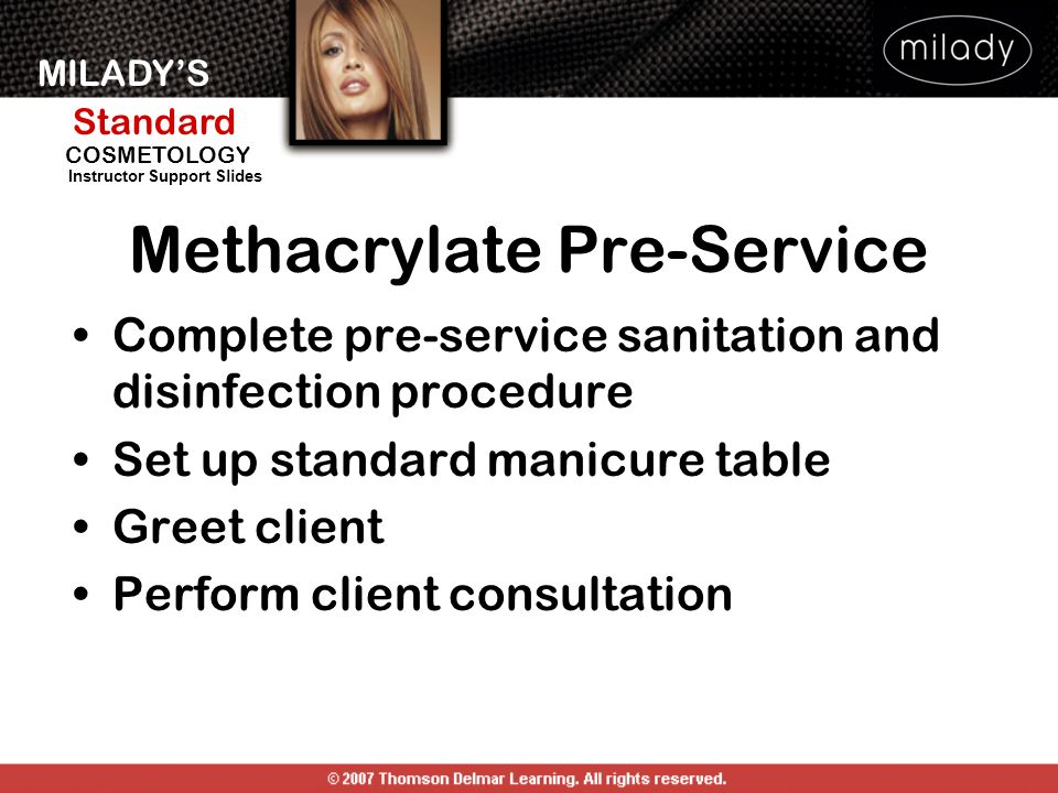 Methacrylate Pre-Service