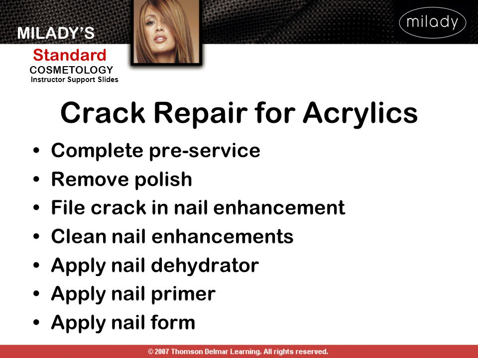Crack Repair for Acrylics