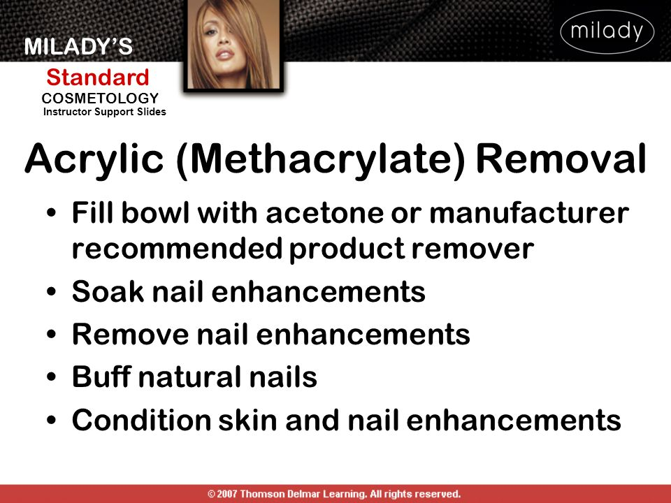 Acrylic (Methacrylate) Removal