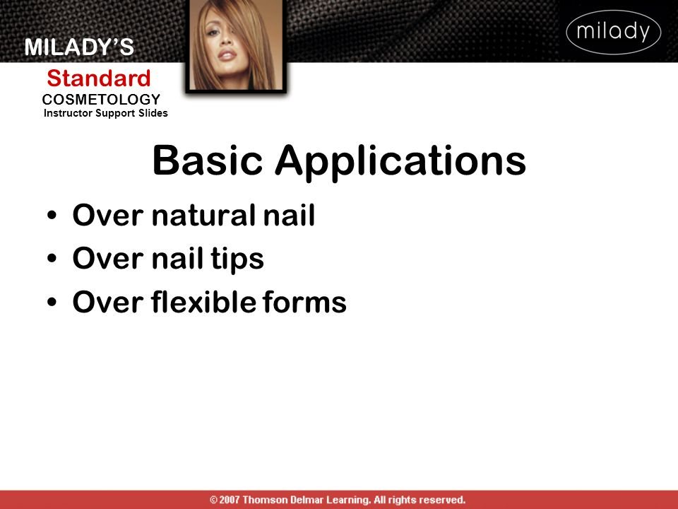 Basic Applications Over natural nail Over nail tips