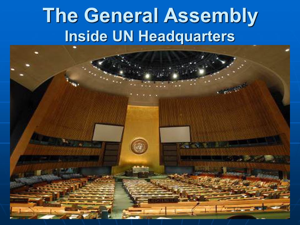The General Assembly Inside UN Headquarters
