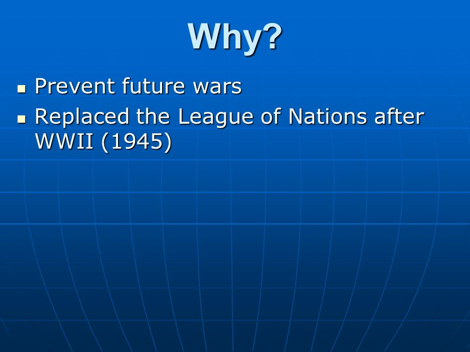 Why Prevent future wars