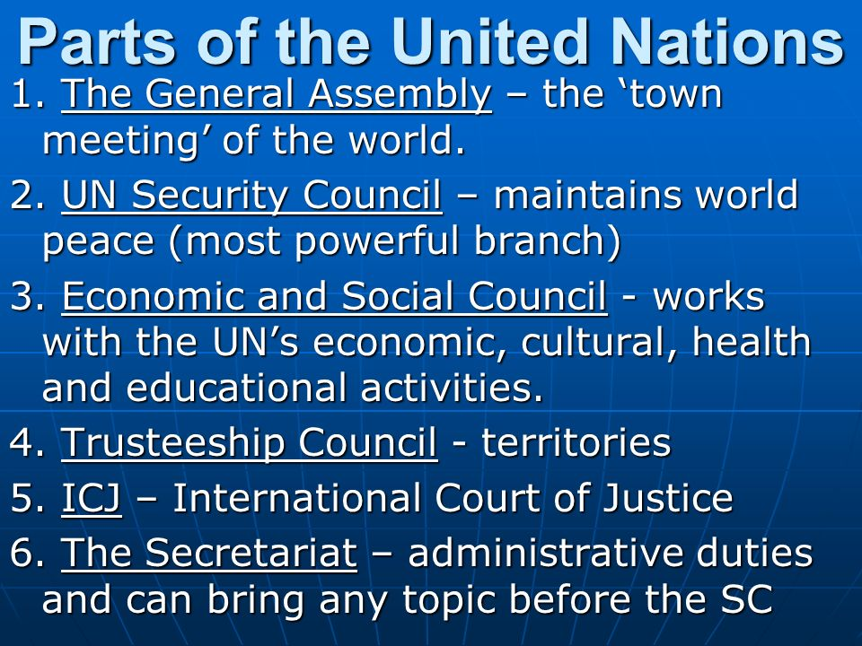 Parts of the United Nations