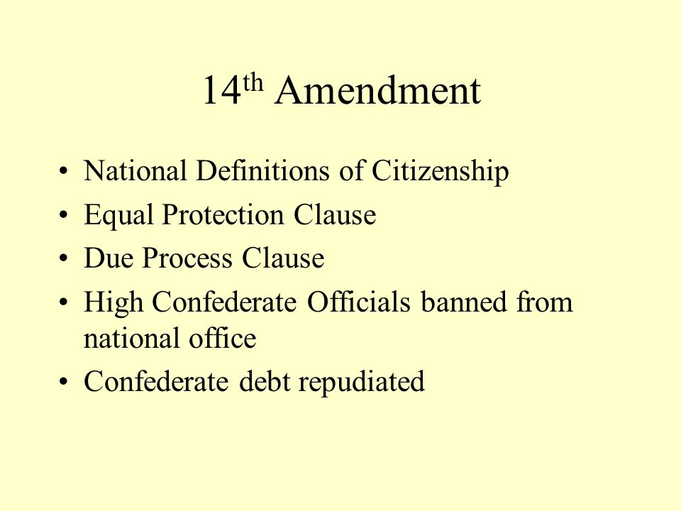 14th Amendment National Definitions of Citizenship