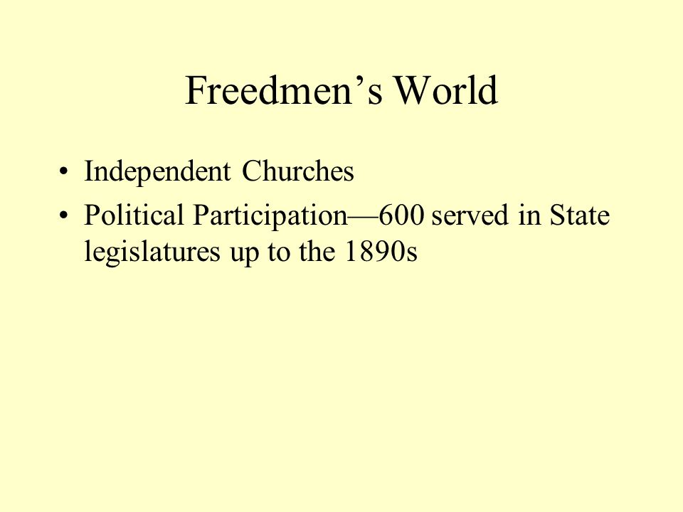 Freedmen's World Independent Churches
