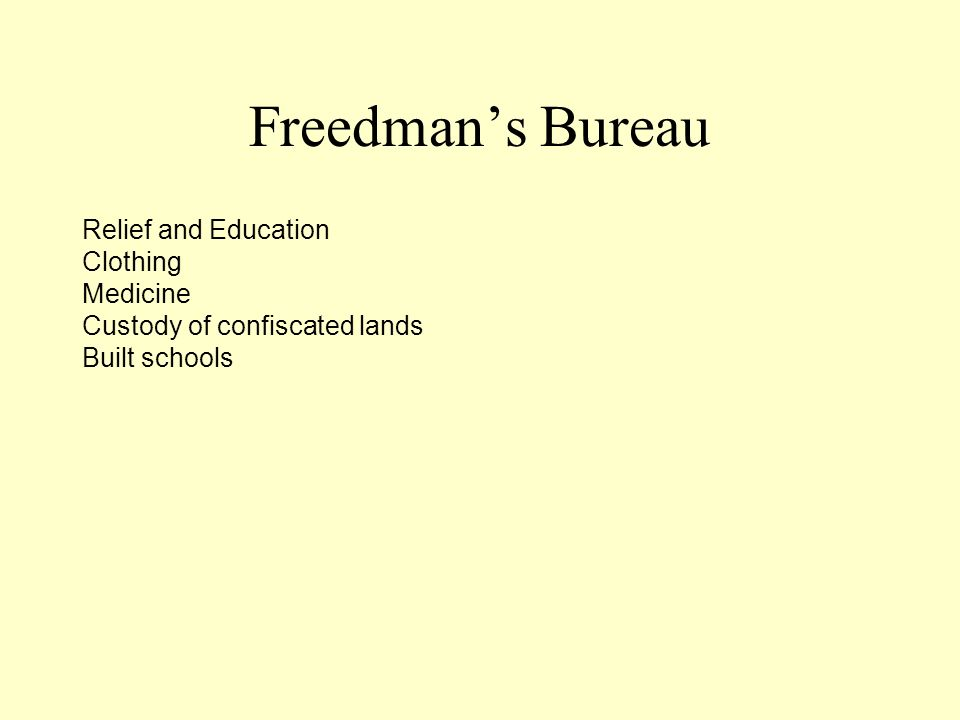 Freedman's Bureau Relief and Education Clothing Medicine