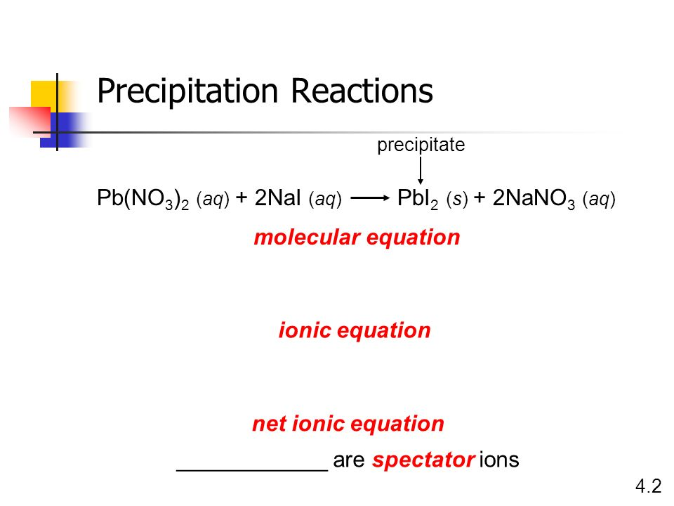 Precipitation Reactions