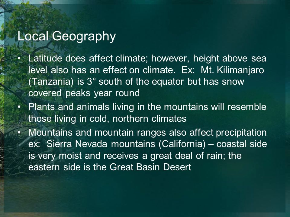 Local Geography