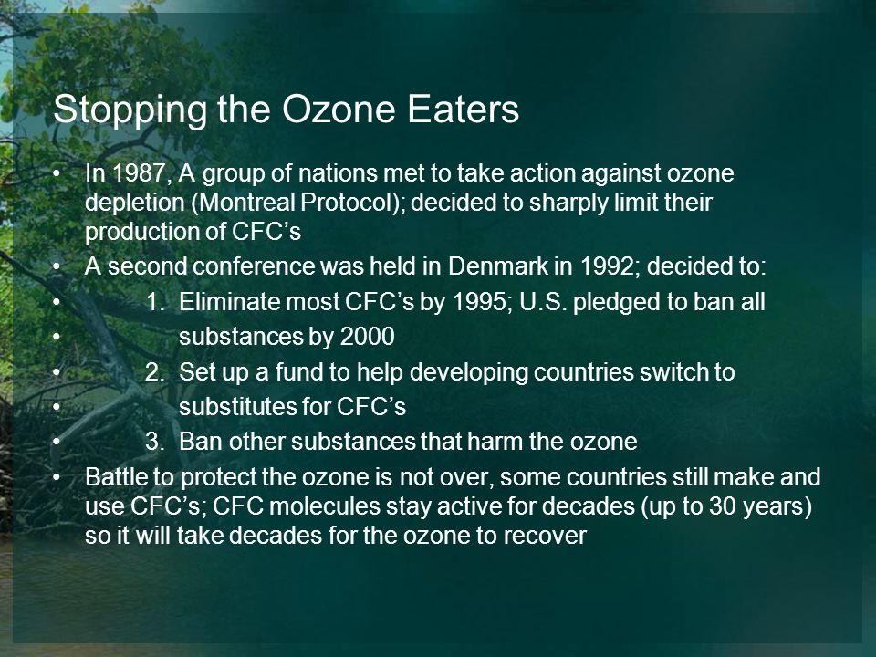 Stopping the Ozone Eaters