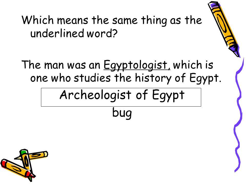 Archeologist of Egypt bug