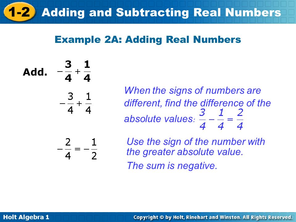 Example 2A: Adding Real Numbers