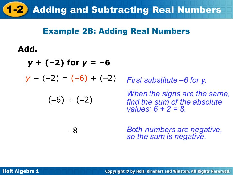 Example 2B: Adding Real Numbers
