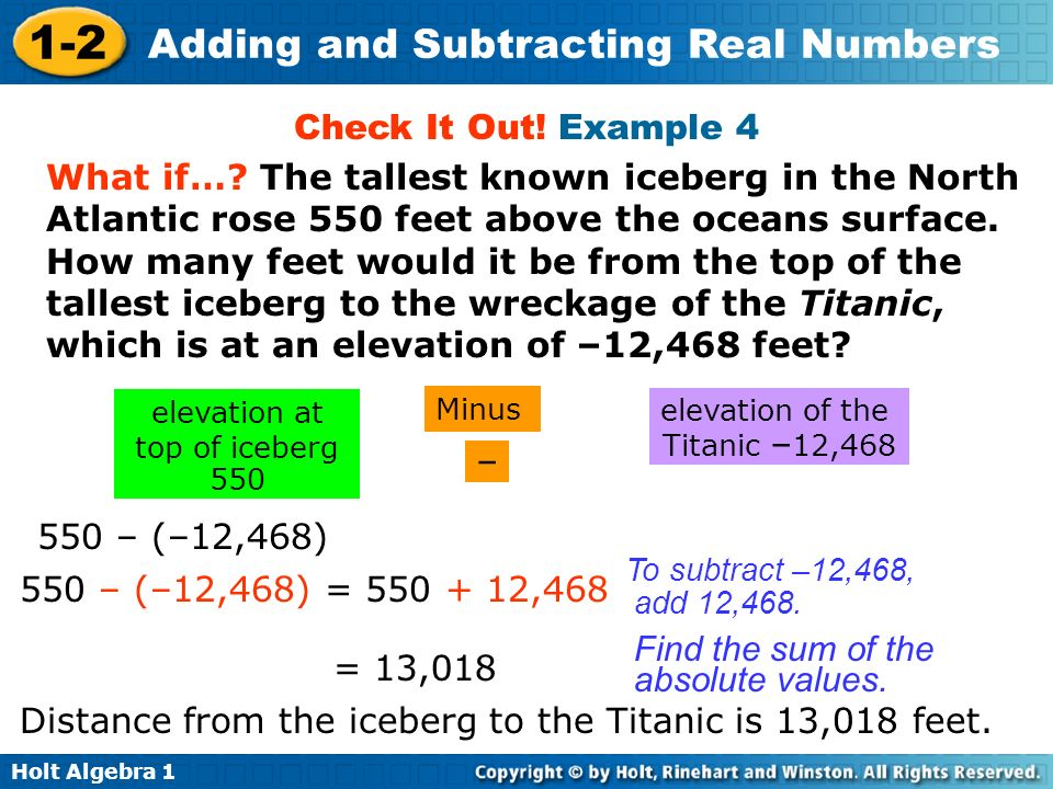 elevation at top of iceberg