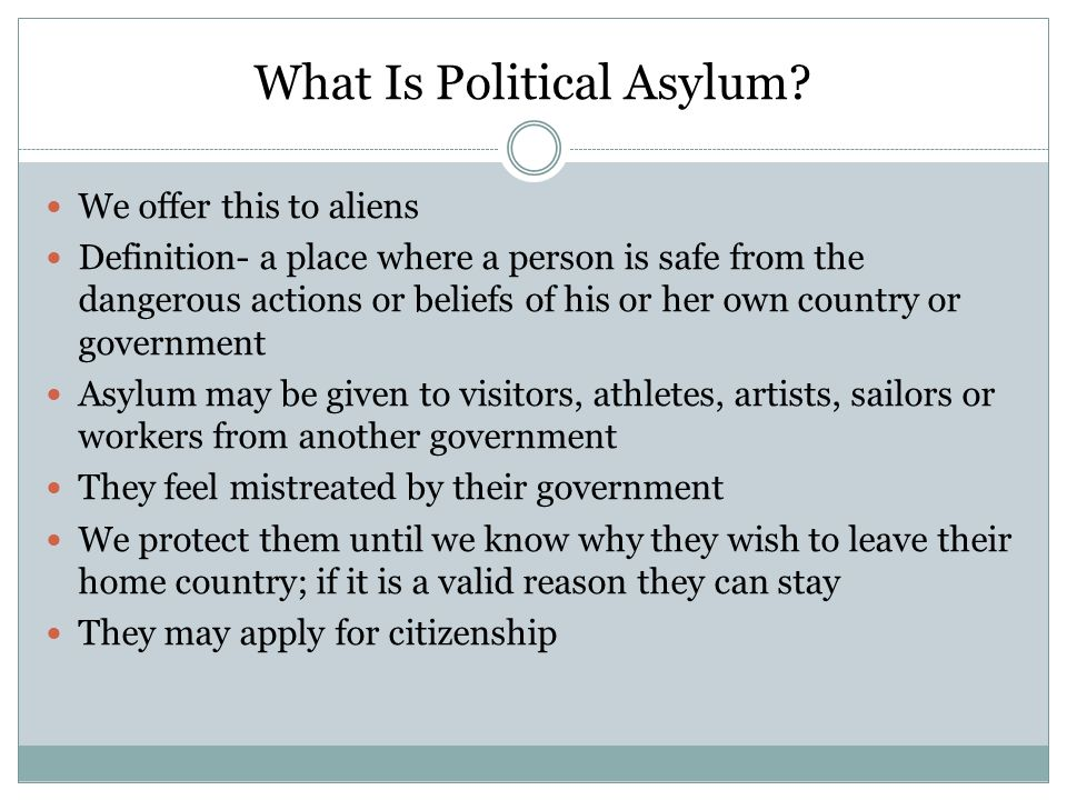 What Is Political Asylum