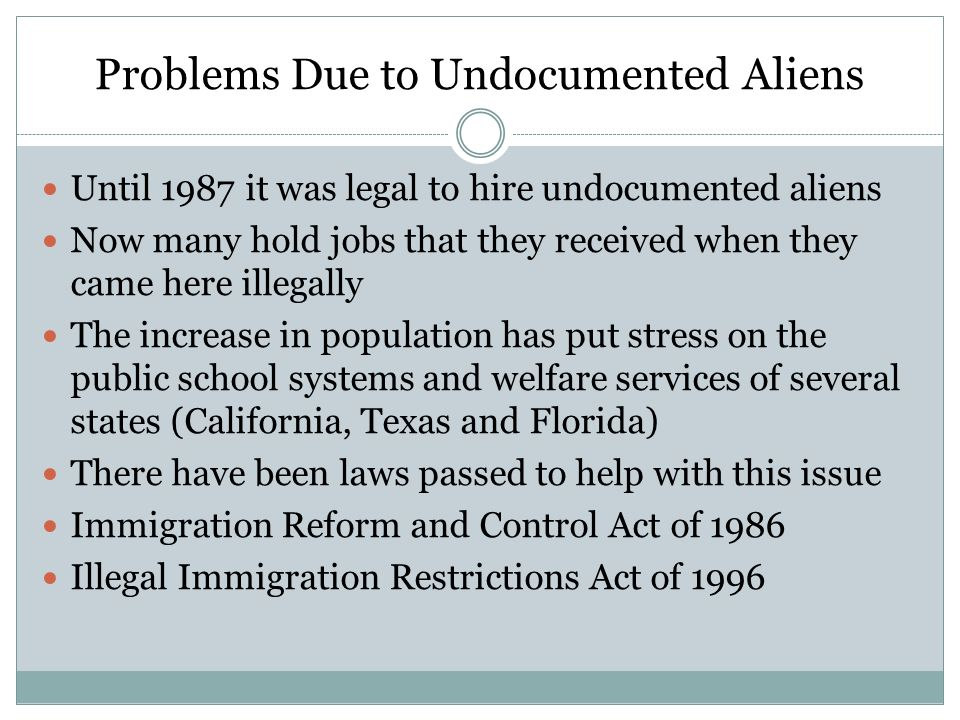 Problems Due to Undocumented Aliens