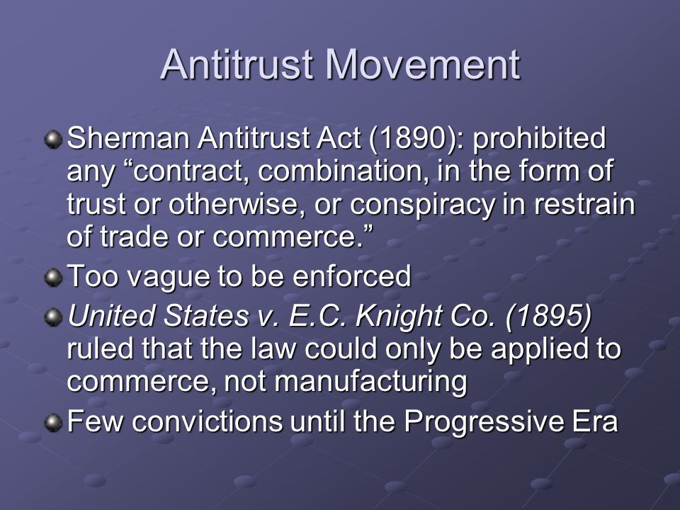 Antitrust Movement