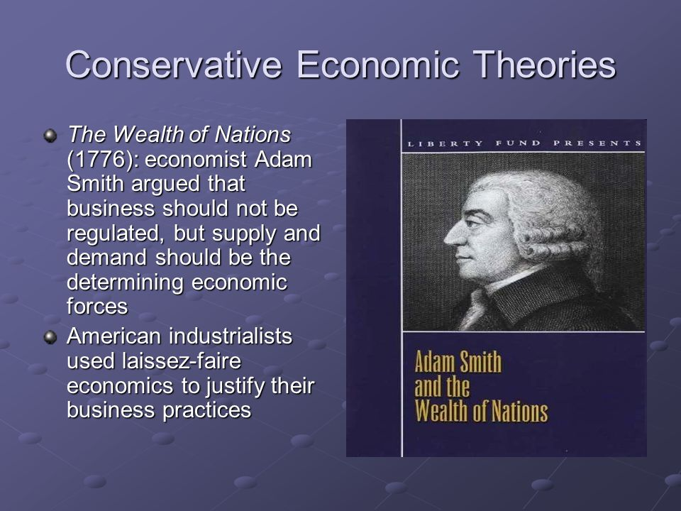 Conservative Economic Theories