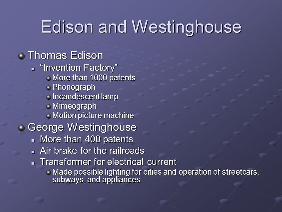 Edison and Westinghouse