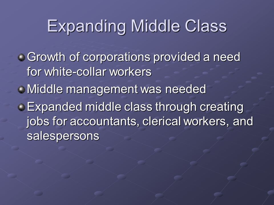 Expanding Middle Class