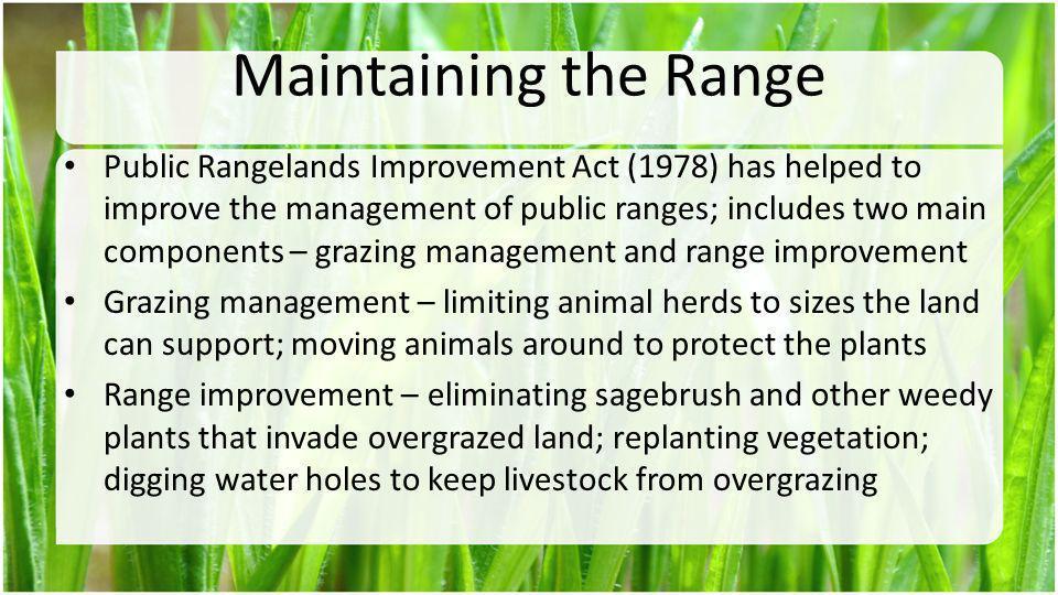 Maintaining the Range