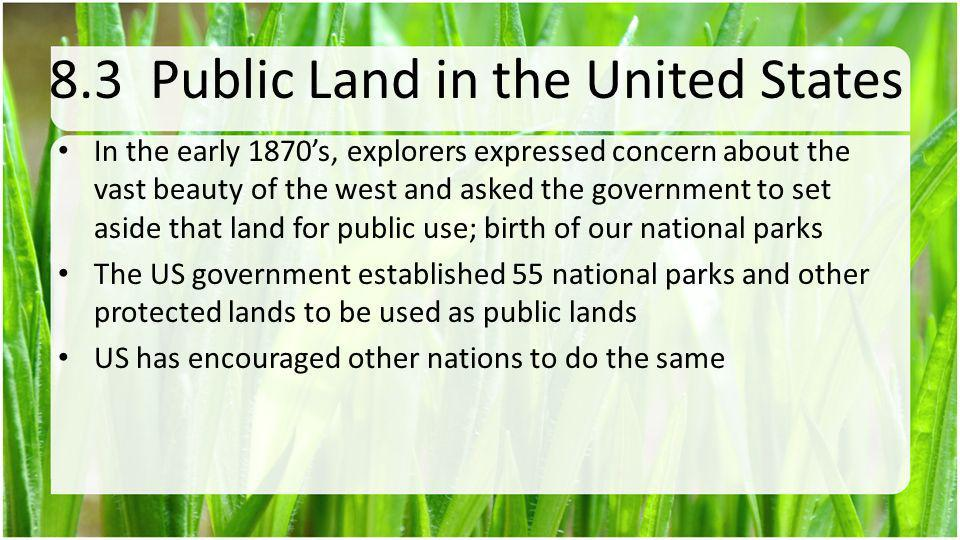 8.3 Public Land in the United States