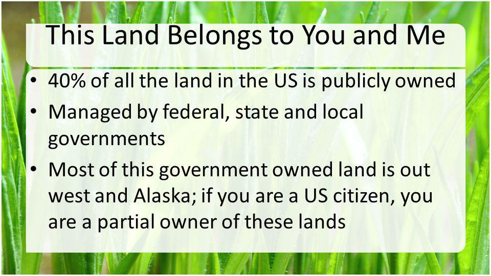 This Land Belongs to You and Me