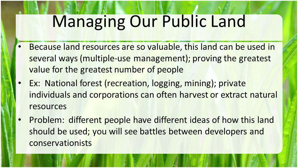 Managing Our Public Land