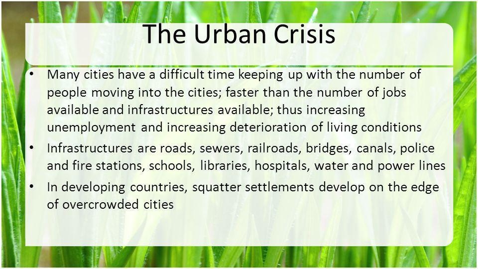 The Urban Crisis